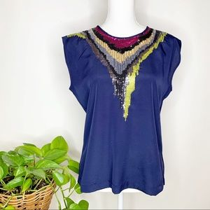 Olive & Oak Urban Outfitters sequined blouse L0331